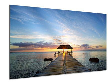 Aluminiumbild Romantik auf Mauritius