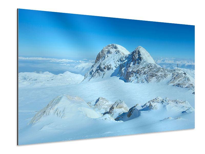 Aluminiumbild Über den Wolken