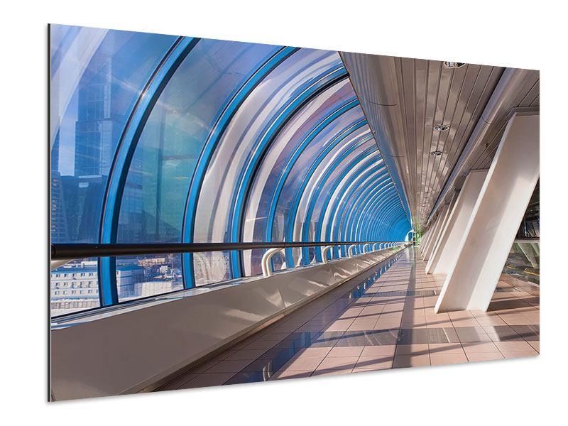 Aluminiumbild Hypermoderne Brücke