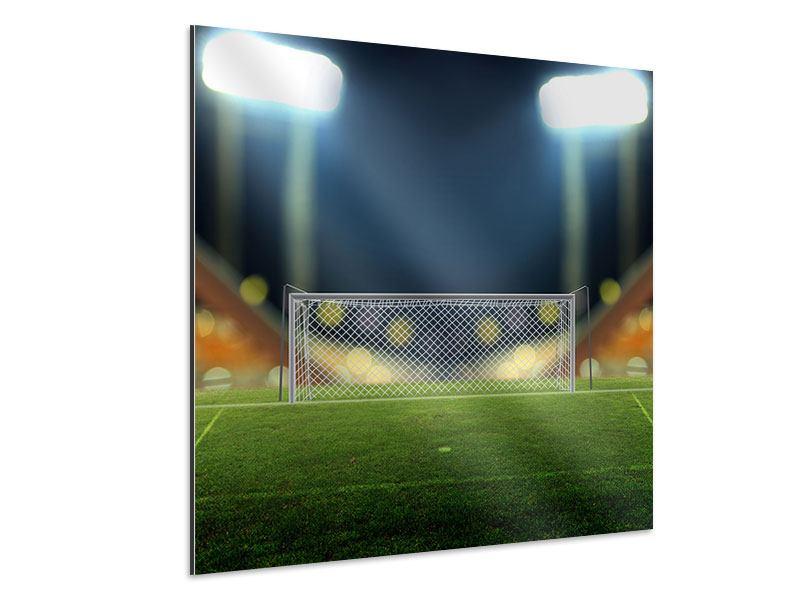 Aluminiumbild Fussballtor