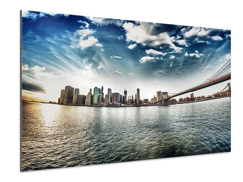 Aluminiumbild Brooklyn Bridge From The Other Side