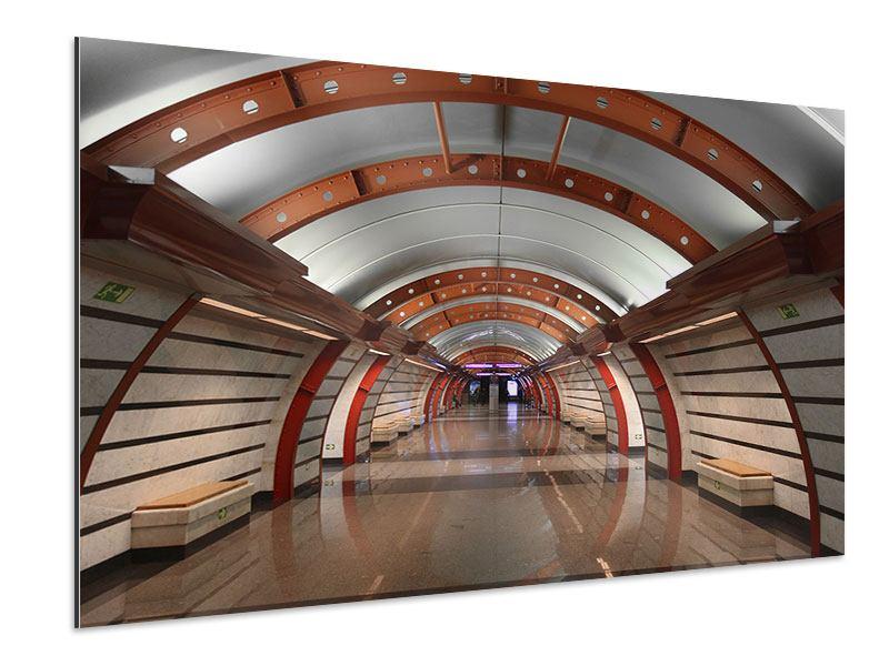 Aluminiumbild U-Bahn Station