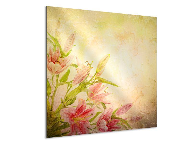 Aluminiumbild Lilien-Gemälde