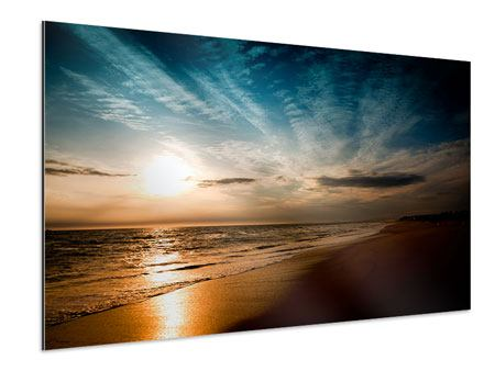 Aluminiumbild Strandspaziergang