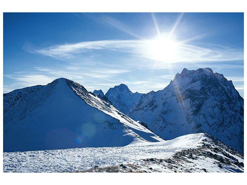 Aluminiumbild Der Berg im Schnee