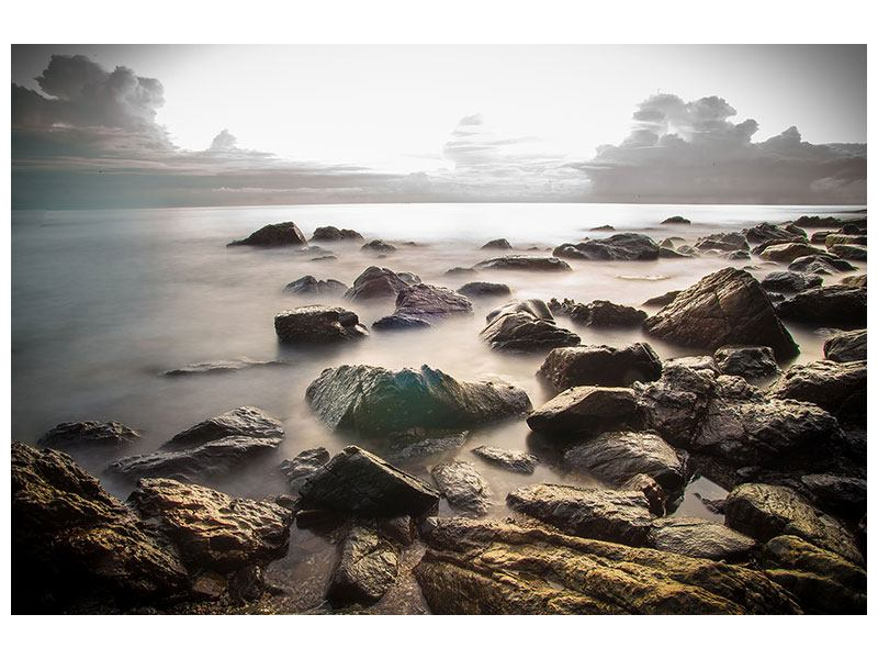 Aluminiumbild Steine am Strand