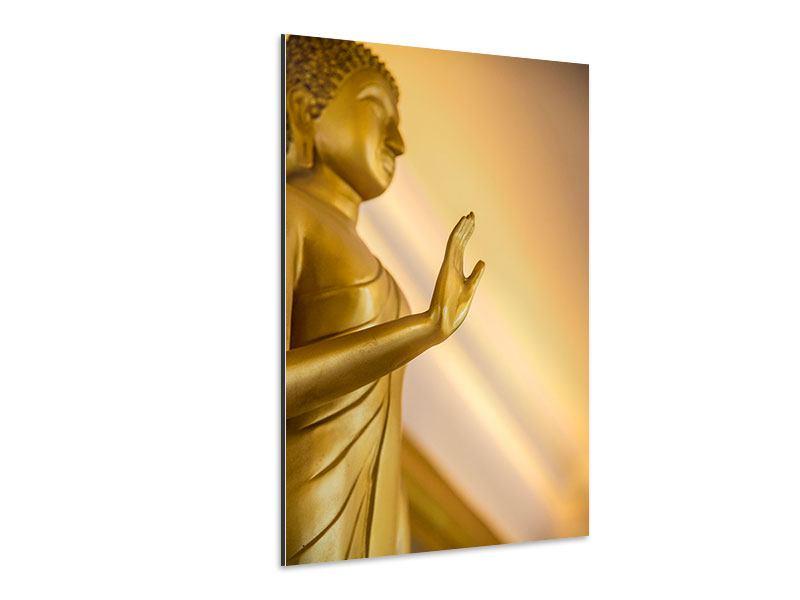 Aluminiumbild Buddha-Statue