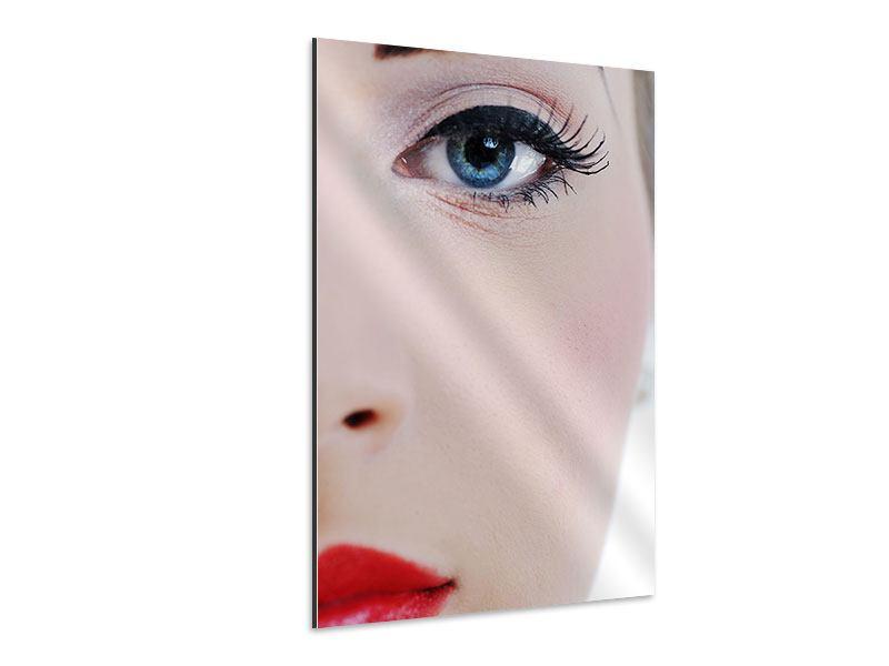 Aluminiumbild Close Up Face