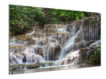 Aluminiumbild Mexikanischer Wasserfall