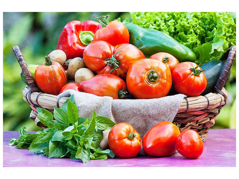 Aluminiumbild Gemüsekorb