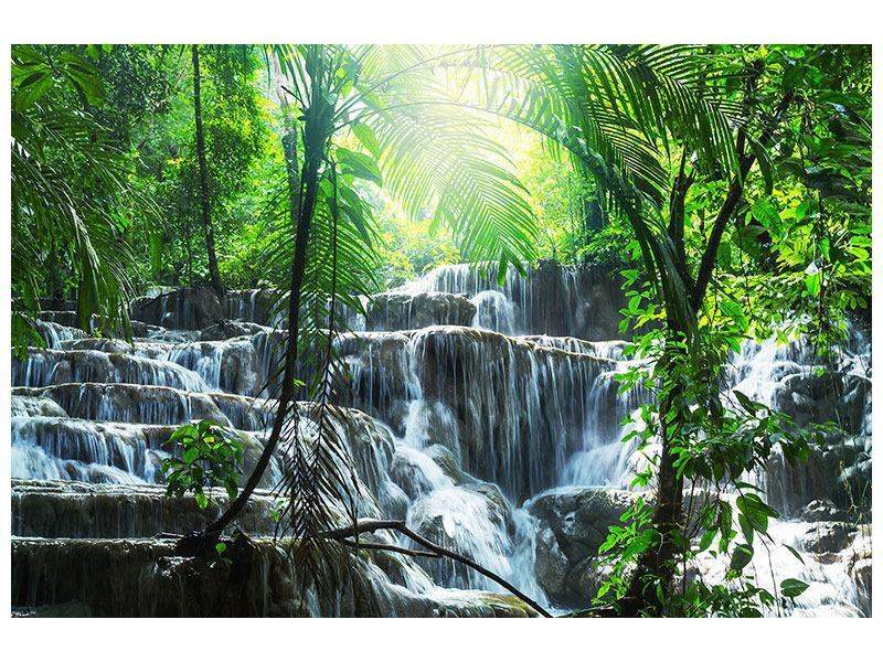 Aluminiumbild Wasserfall Agua Azul