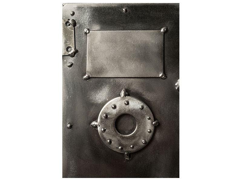 Aluminiumbild Retro-Tresor