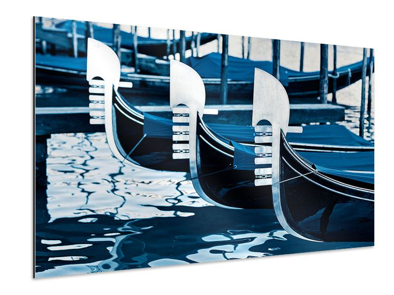 Aluminiumbild Gondeln in Venedig