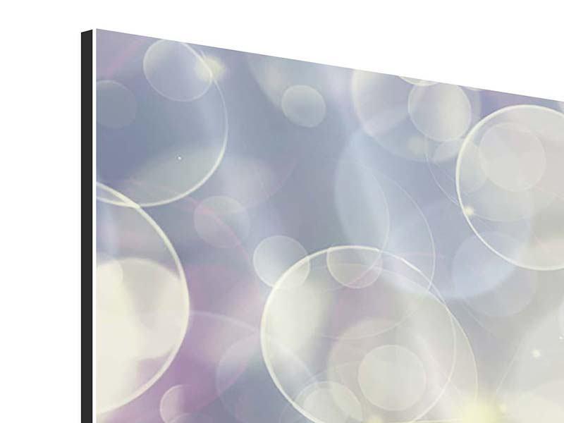 Aluminiumbild Buntes Tulpenbeet im Lichtspiel
