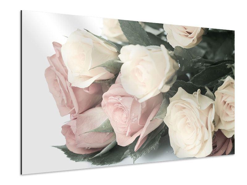 Aluminiumbild Rosenromantik