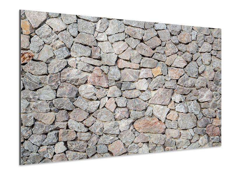 Aluminiumbild Grunge-Stil Mauer