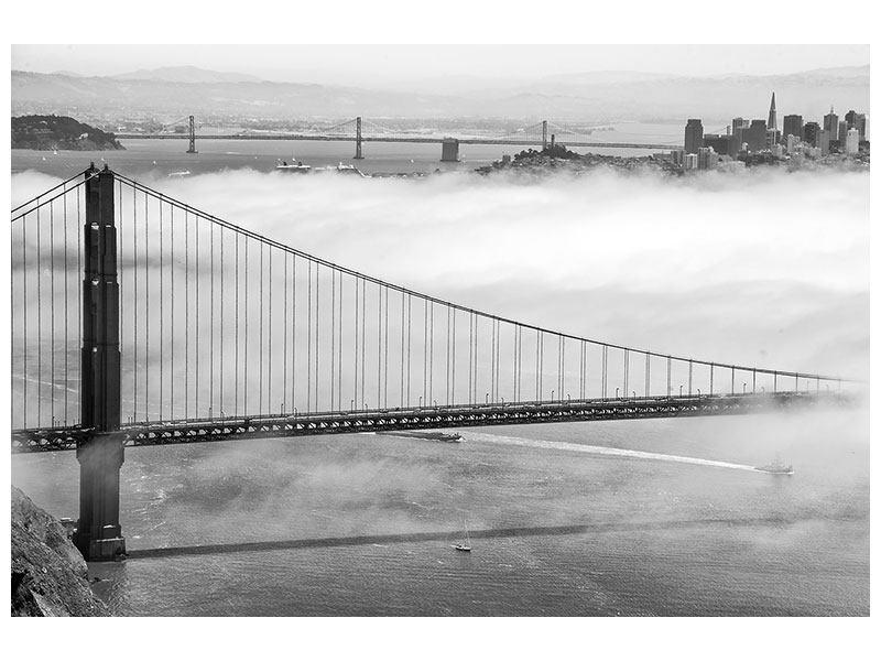 Aluminiumbild Golden Gate Brücke