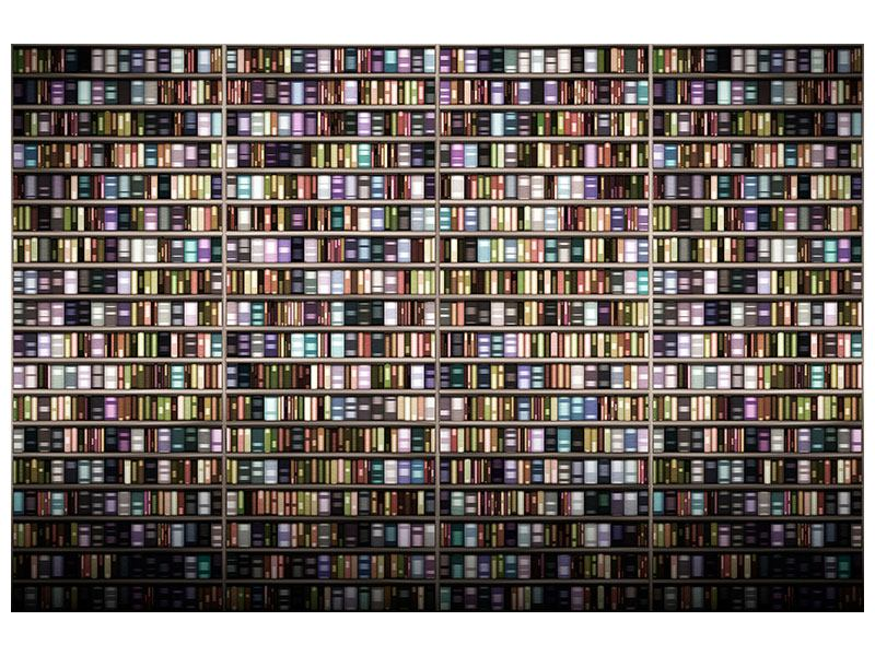 Aluminiumbild Bücherregal