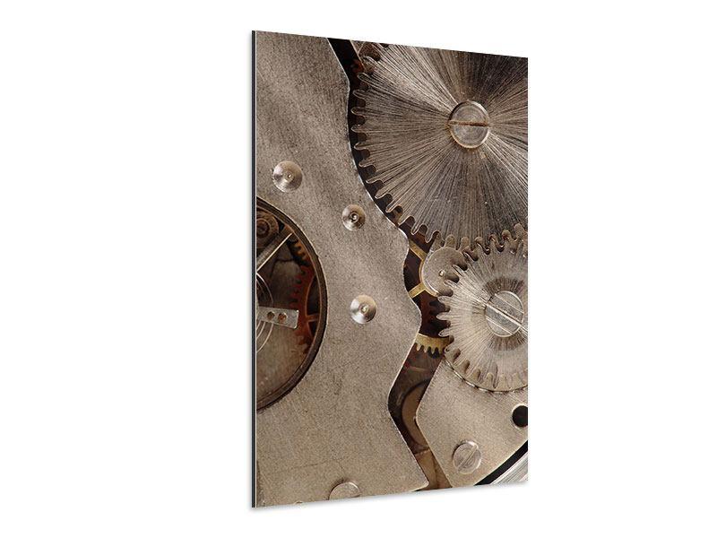 Aluminiumbild Uhrwerk
