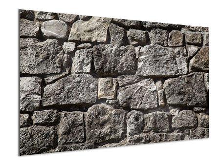 Aluminiumbild Grosses Mauerwerk