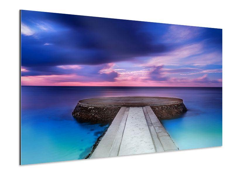 Aluminiumbild Meditation am Meer