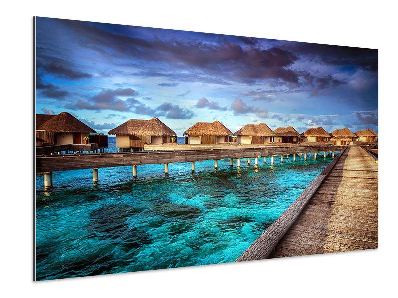 Aluminiumbild Traumhaus im Wasser