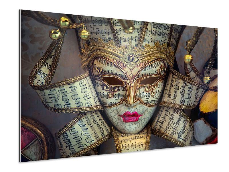 Aluminiumbild Venezianische Maske