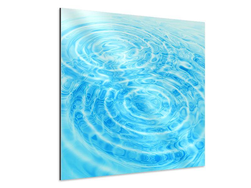 Aluminiumbild Abstraktes Wasserbad