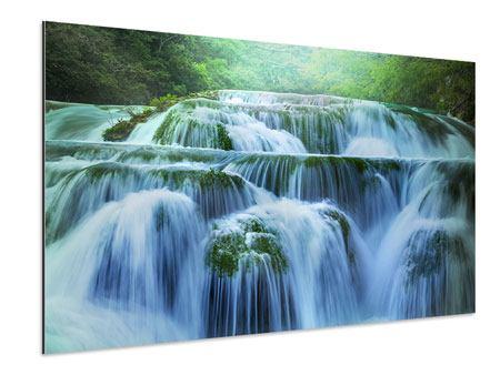 Aluminiumbild Gigantischer Wasserfall