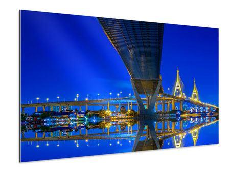 Aluminiumbild Bhumiboll-Brücke