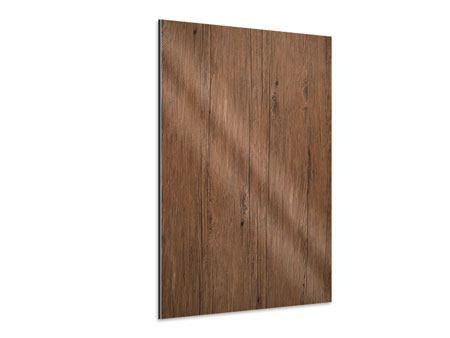 Aluminiumbild Teak-Holz