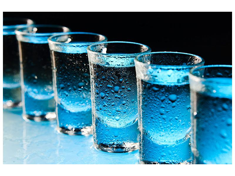 Aluminiumbild Wodka Pur