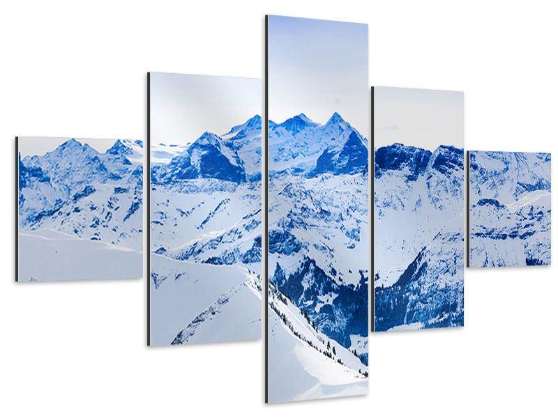 Aluminiumbild 5-teilig Die Schweizer Alpen