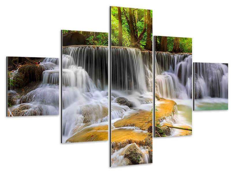 Aluminiumbild 5-teilig Nationalpark Si Nakharin