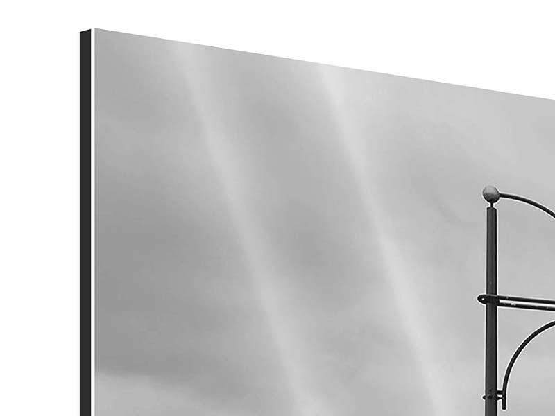 Aluminiumbild 5-teilig Poetische Brücke