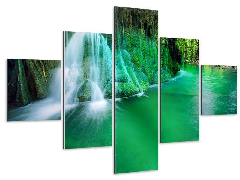 Aluminiumbild 5-teilig Im Paradies