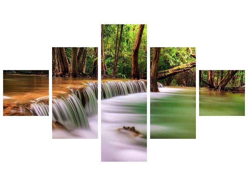 Aluminiumbild 5-teilig Deep Forest