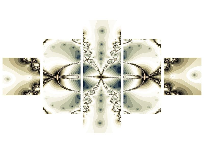 Aluminiumbild 5-teilig Abstrakter Schmetterling
