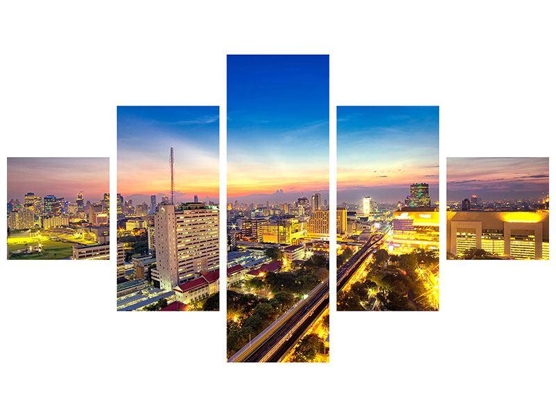 Aluminiumbild 5-teilig Bangkok
