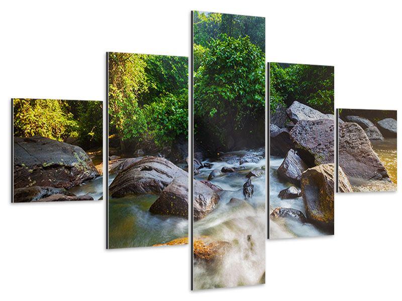 Aluminiumbild 5-teilig Das Gewässer