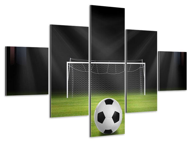Aluminiumbild 5-teilig Fussball-Tor