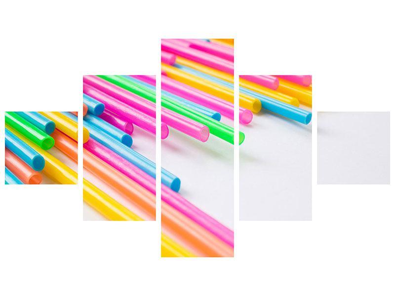 Aluminiumbild 5-teilig Pop Art