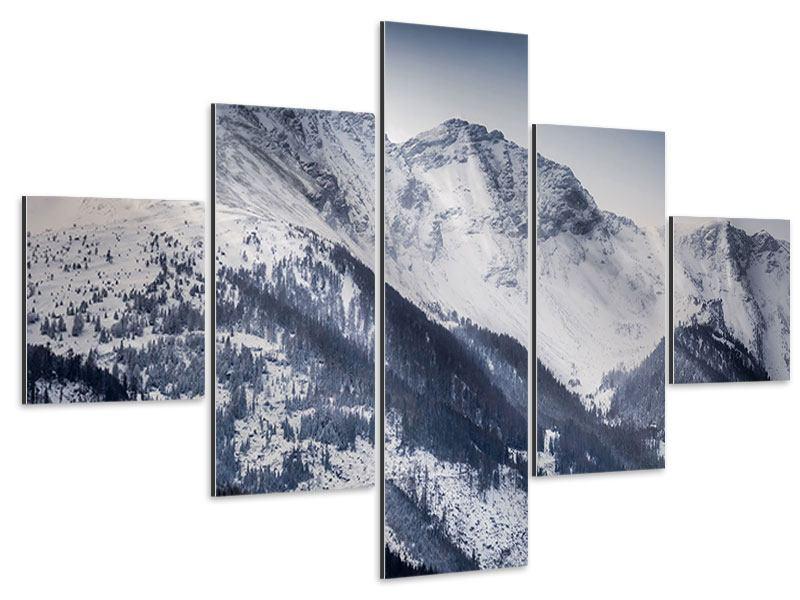 Aluminiumbild 5-teilig Die Berge der Schweiz