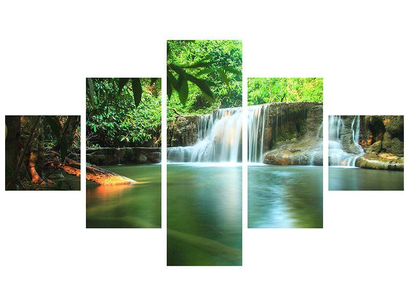 Aluminiumbild 5-teilig Element Wasser