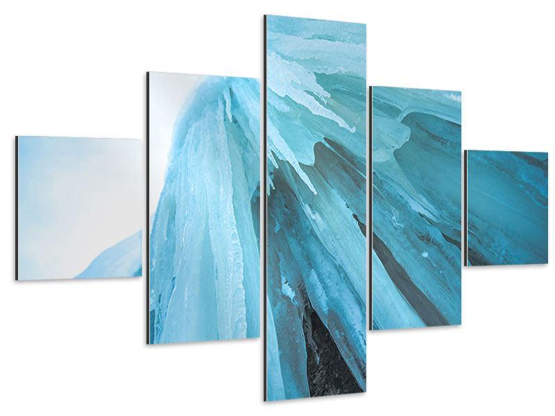Aluminiumbild 5-teilig Die Eiswand