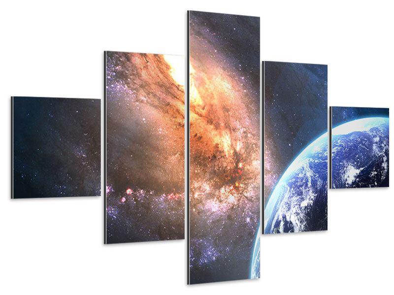 Aluminiumbild 5-teilig Universus