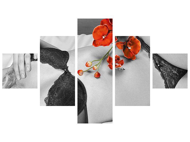 Aluminiumbild 5-teilig Dessous-Schönheit