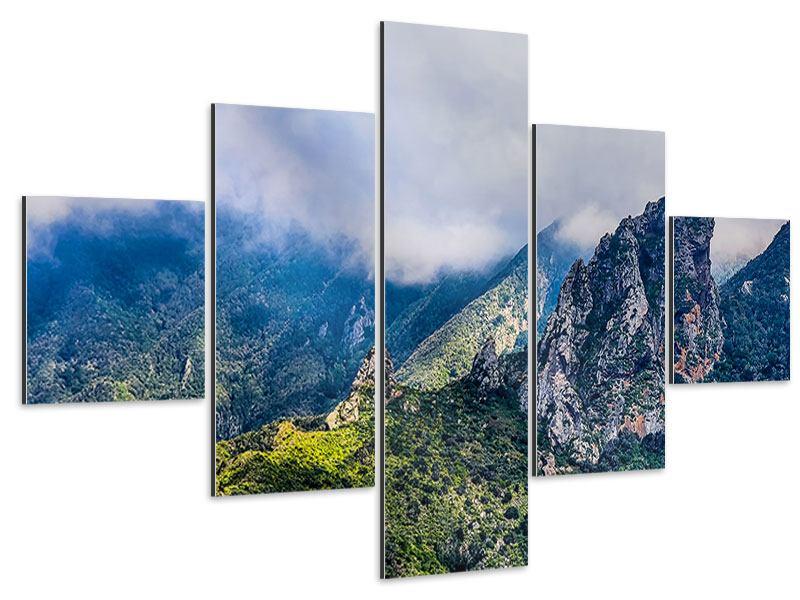 Aluminiumbild 5-teilig Der stille Berg