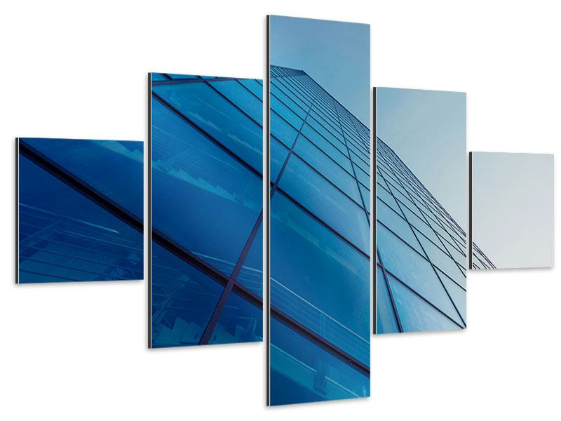 Aluminiumbild 5-teilig Wolkenkratzer-Highlight