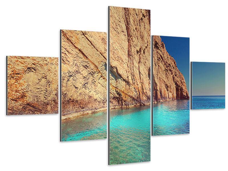 Aluminiumbild 5-teilig Wasser